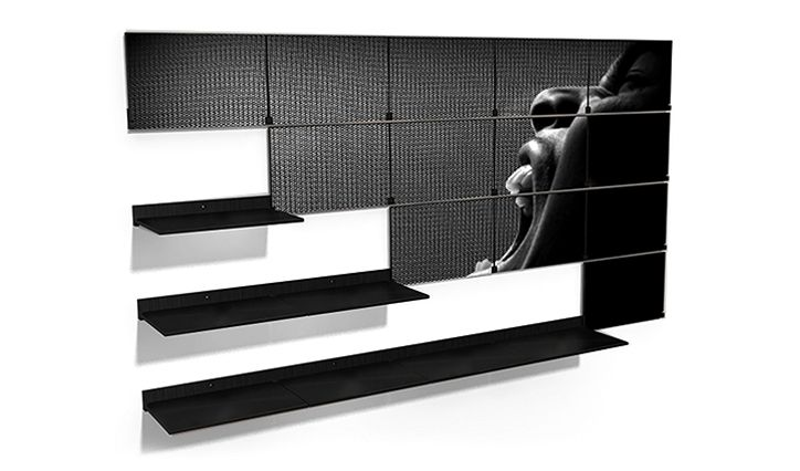 Riveli - precision-engineered folding shelving system