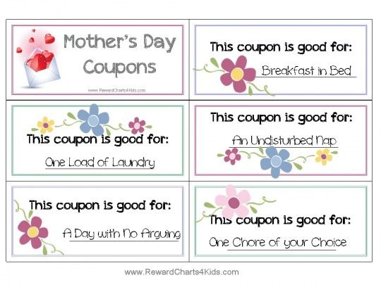 21 best Motheru0027s Day 2016 images on Pinterest 100 free - free coupon book template