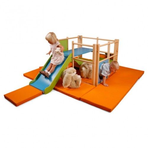 Climbing Centre - This climbing centre is designed specifically for the under 3s to explore and climb in safety. There are two crawl through openings, 2 platforms and 4 mirror panels. Manufactured from high quality sustainably sourced timber and protected with a tough clear lacquer.  • Internal safety mat is included • W/D/H 102 x 170 x 77cm