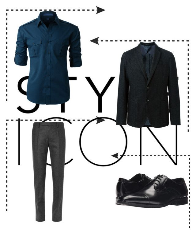 """Teddy Boy"" by akansha125 on Polyvore featuring LE3NO, Armani Collezioni, Stacy Adams, men's fashion and menswear"