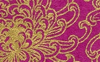 I have an addiction-- I am addicted to cool papers! My fix: Silk Screened Lokta Paper - Chrysanthemums, Gold on Purple (papermojo)