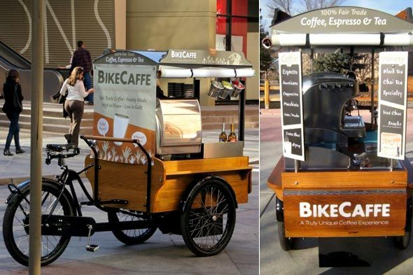 Mobile Bike Cafe. Great for urban dwellers. Maybe you don't need a food TRUCK to start! popuprepublic.com