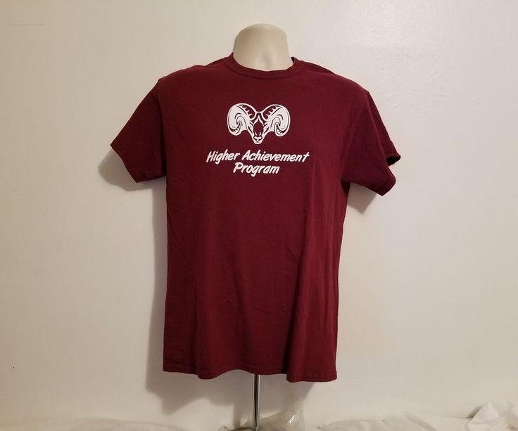 Fordham Prep Rams Higher Achievement Program Adult Medium Burgundy T-Shirt #Gildan #FordhamRams