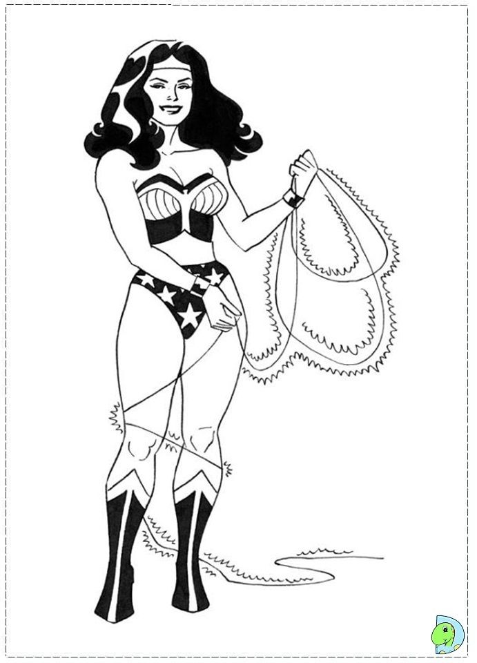 Coloring page wonder woman