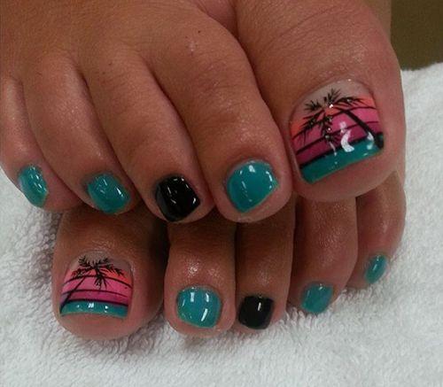so cute toe nail design,summer nail design ideas