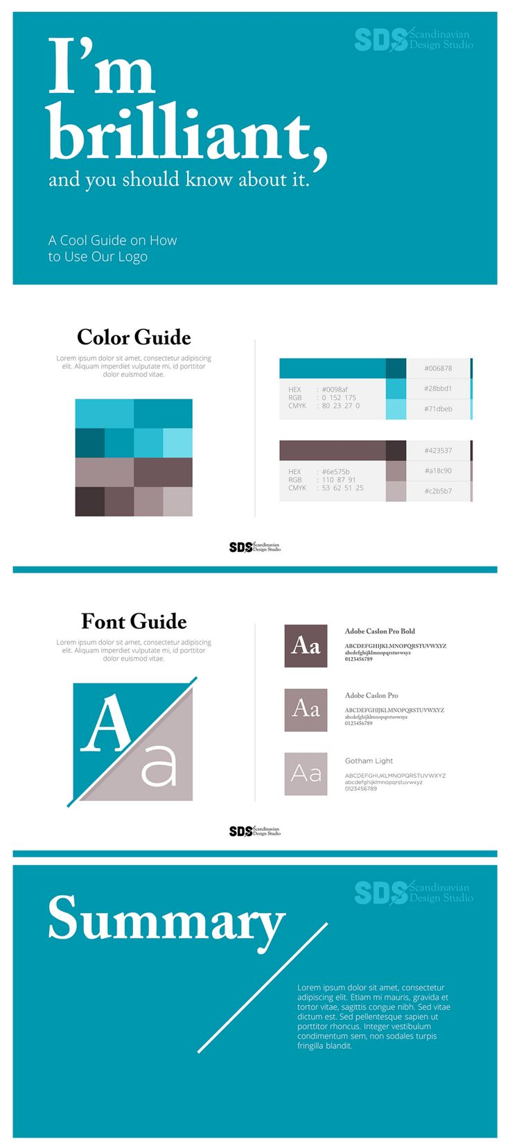Choose a Scandinavian graphic design for the simple yet impressionable look. PowerPoint Presentation Design Inspiration
