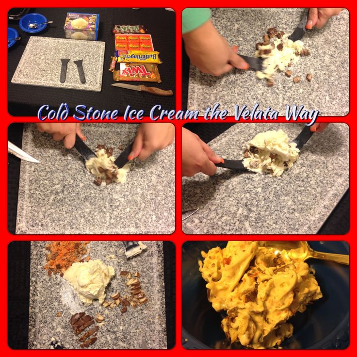 Another way to use the Granite Top from the Velata Table Top Grill... Simply freeze the granite top for a few hours and mix your ice cream with your favorite candy or topping... Creates a cold stone like ice cream adventure!! Get yours today!!  https://bethv.velata.us
