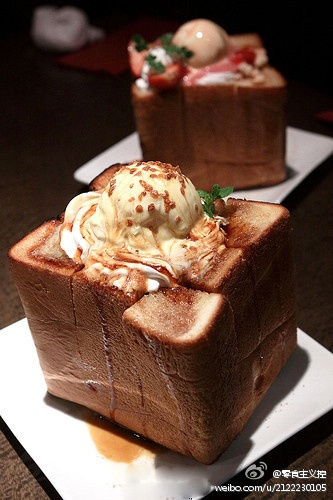 i reli want to try this japanese honey toast!