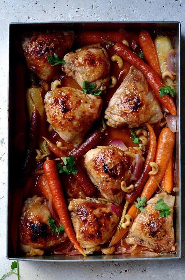 Chinese mandarin chicken tray bake