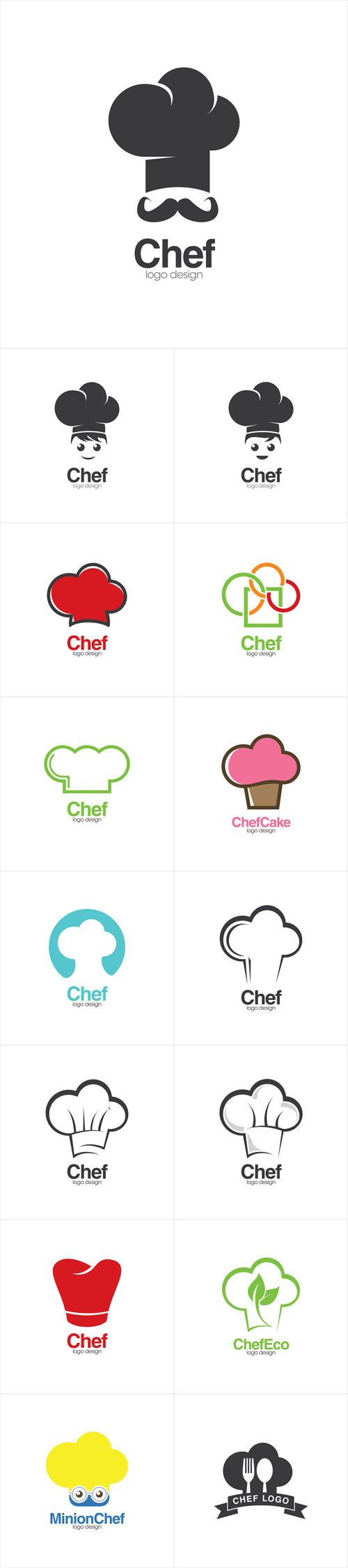 Vectors - Chef Hat Creative Concept Logo Design Template