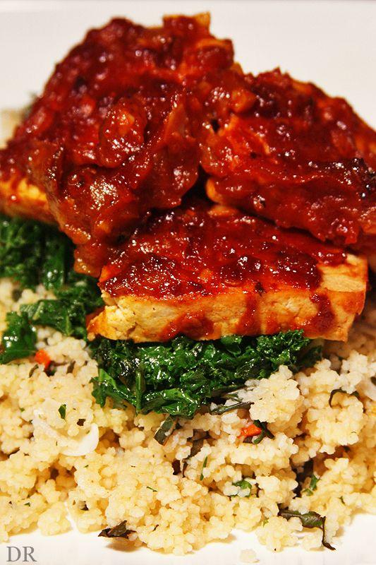 Plantaardigheidjes: Tofu met chipotle saus en couscous