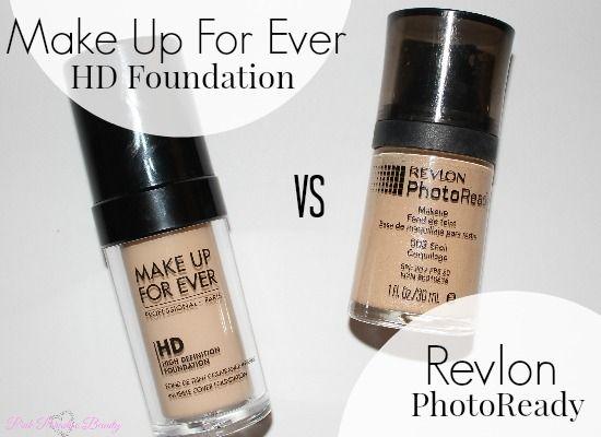 Revlon Photoready Foundation VS Make Up For Ever HD Foundation Comparison | Pink Paradise Beauty