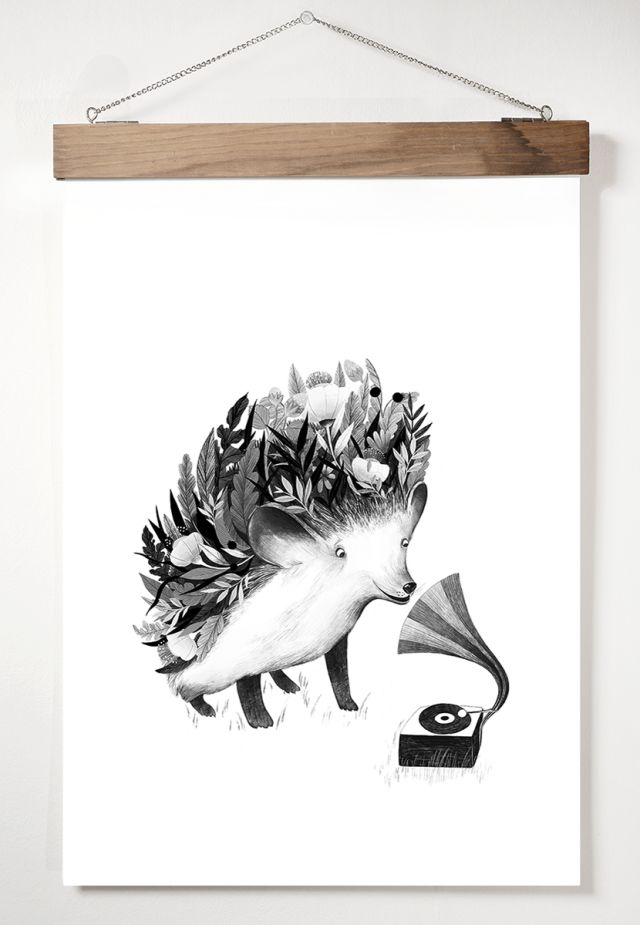 Blomstrande igelkott - art print