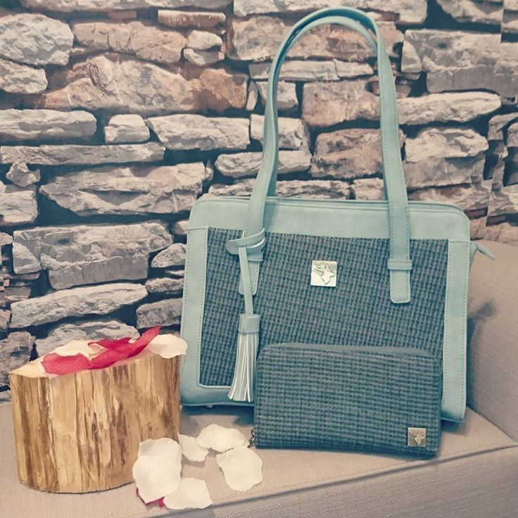 Beautiful Tassle bag from House of Tweed in gorgeous green tweed colour | UV Protected | Water & Spill Resistant | Practical handbag perfect for everyday use | Matching purse also available! | Stand out from the crowd and be different with this stunning bag!