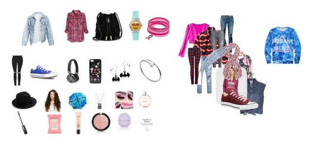 """""""Casual"""" by sarah-blevins on Polyvore featuring Bebe, Jean-Paul Gaultier, Patagonia, Billabong, Converse, Faustine Steinmetz, rag & bone/JEAN, H&M, Dex and Topshop"""