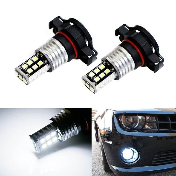 Xenon White 15 Smd High Power 5202 5201 2504 Psx24w Led Bulbs For Daytime Running Lights Drl Or Fog Lamps Wish Running Lights Bulb Fog Lamps