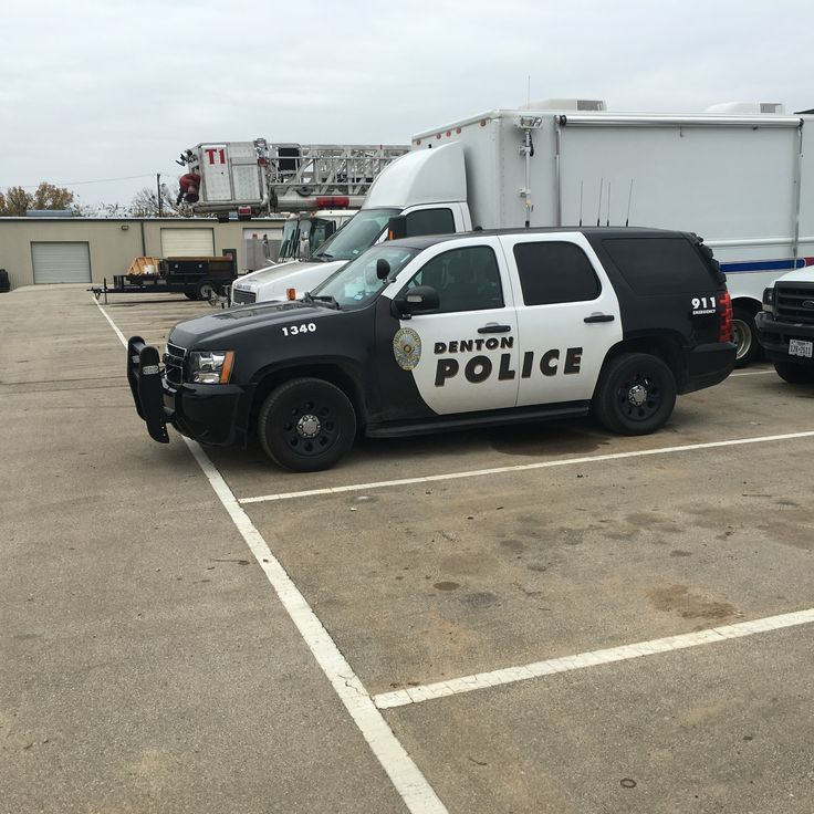 One of the newer Denton Police Tahoe Patrol Units Texas