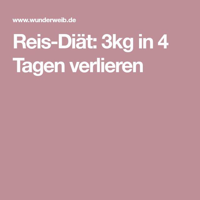 Reis-Diät: 3kg in 4 Tagen verlieren