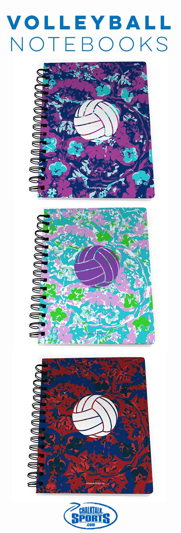 Our #volleyball notebooks are perfect for note taking, doodling, wish lists and more! Many styles can even be personalized with your name and number!