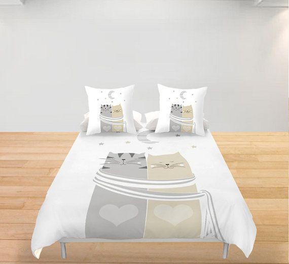 les 25 meilleures id es de la cat gorie chat couette sur pinterest mod les de couvertures chat. Black Bedroom Furniture Sets. Home Design Ideas