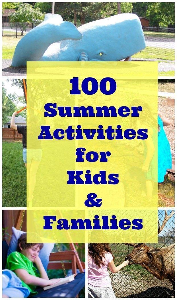 100 Free Summer Activities For Kids Summer Activities For Kids Free Summer Activities Activities For Kids