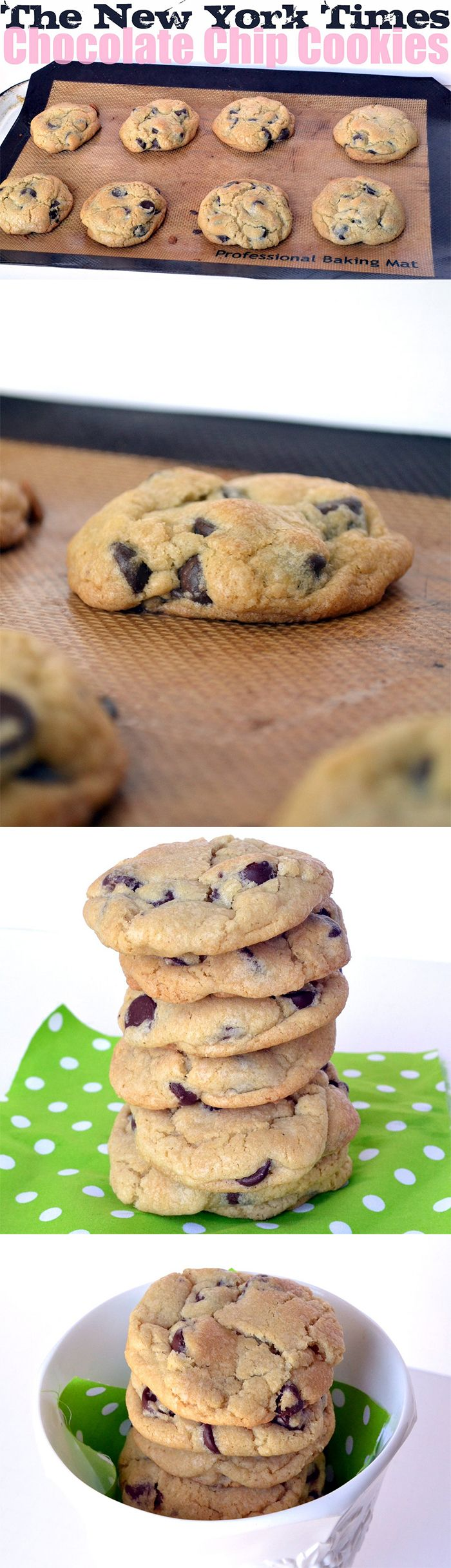 The New York Time #chocolate chips cookies #Recipe  One of the most #yummy chocolate cookies ever.  Follow me for more delicious desserts :)