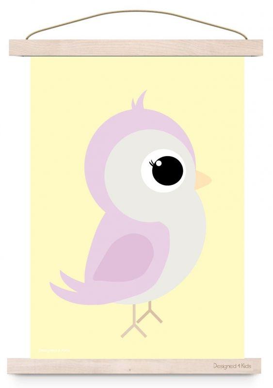 Poster Vogel Pastel A3