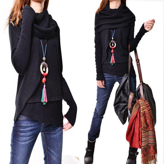 4 Skies Poetic Knits Sweater / poncho rib by idea2lifestyle