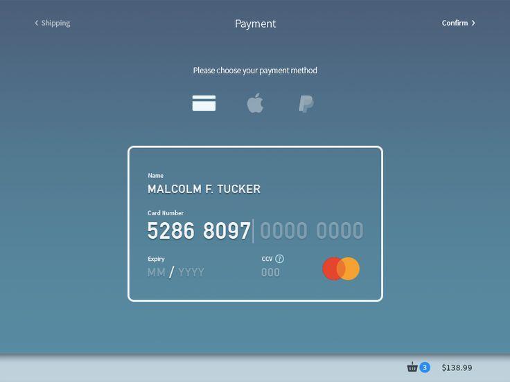 Dailu UI 002 - Credit Card Form