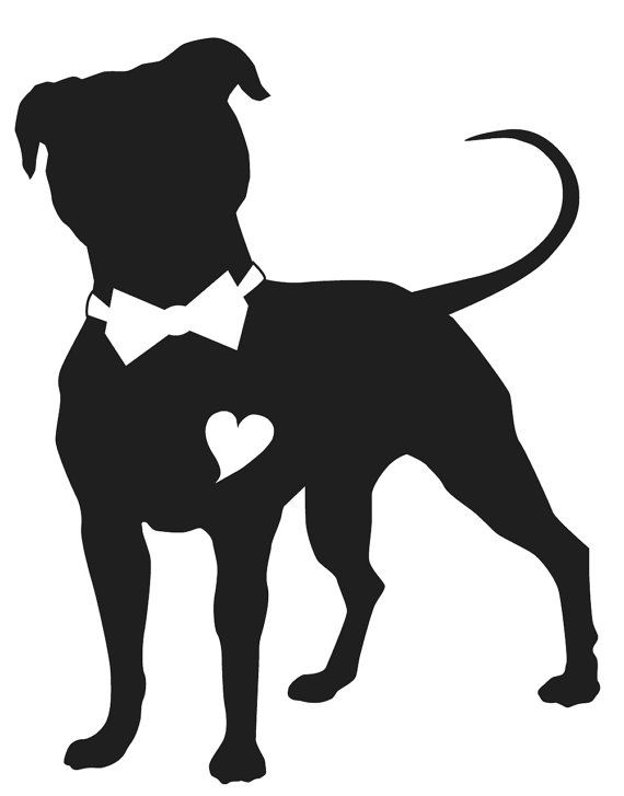 Black matte vinyl male Pit Bull Car Window sticker- Perfect for that subtle look on tinted windows!
