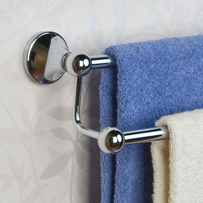 ballard double towel bar bathroom towel decortowel holder - Bathroom Towel Holder