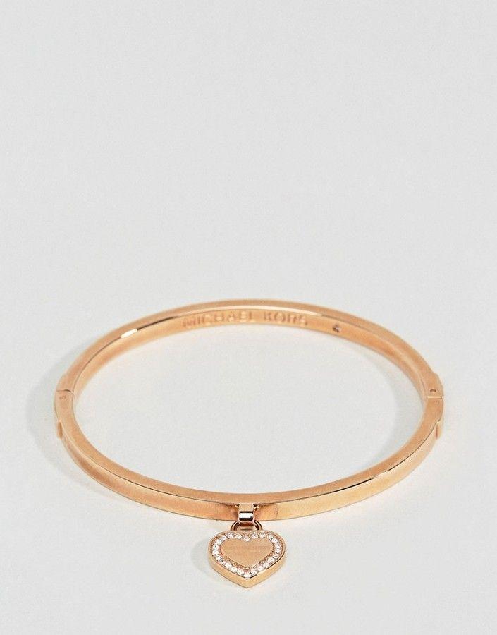 Michael Kors Rose Gold Heart Bangle