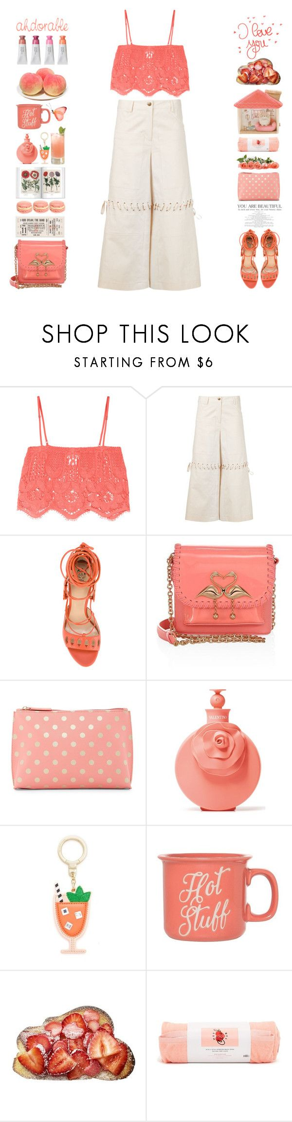 """Ahdorable"" by doga1 ❤ liked on Polyvore featuring Miguelina, Rosie Assoulin, Paula Cademartori, Sophia Webster, Shiraleah, Valentino, Kate Spade, Clay Art and ban.do"