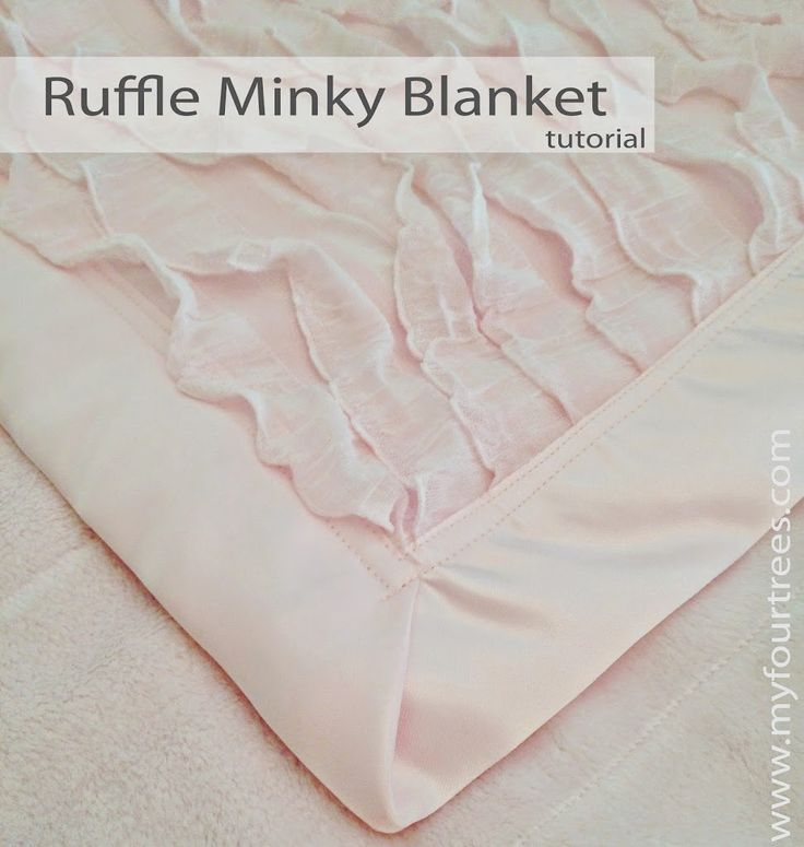 Ruffle Fabric Baby Blanket Tutorial by My Four Trees