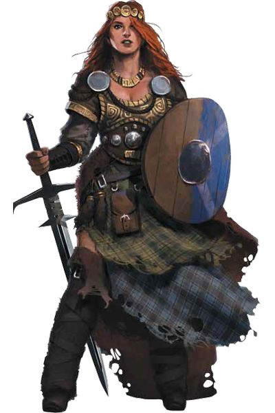 7th Sea 2e Character: Woman of Highland Marches (credits to John Wick Presents)