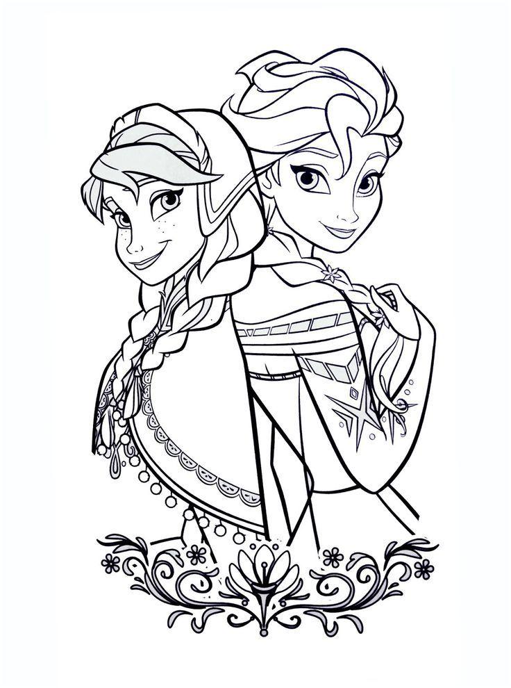 9 Simple Coloriage A Imprimer Disney Images Elsa Coloring