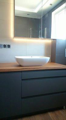 Szafka pod umywalkę + oświetlenie LED