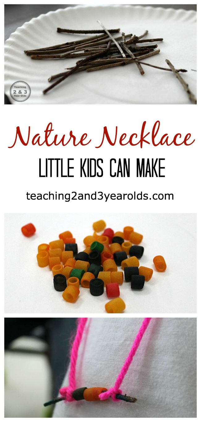 nature stick necklaces - a simple fine motor and art activity for little kids