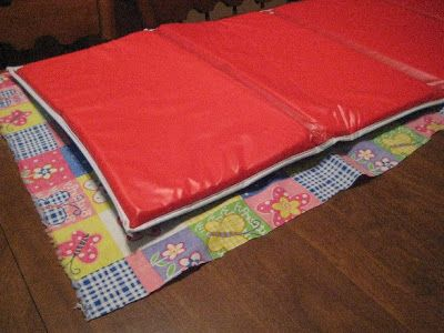 DIY nap pad cover