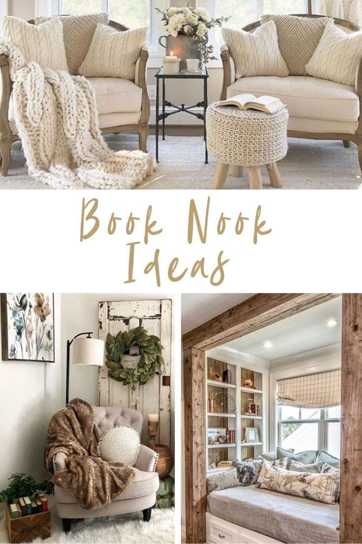 Are You Looking For Cozy Book Nook Ideas We Have Several Reading Corner Designs That You Ll Love Creati In 2020 Living Room Nook Cozy Reading Corners Book Nook Chair