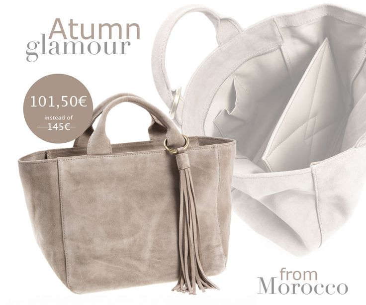 Have to renew your wardrobe for this #FW15?  Start from your #bag! Shoulder bag in suede of quadrangular shape made in #Morocco. Find out more >> http://near-and-far.com/en/home/181-saidy-suede-light-grey-small-tote.html #tote #glamour #Iloveonlineshopping