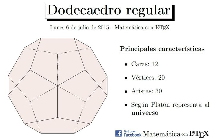 Regular dodecahedron made entirely with LaTeX