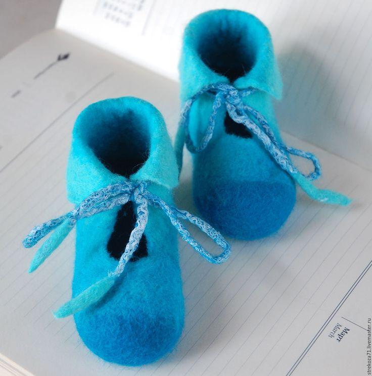 Купить Пинетки бирюзовые для новорожденного детские пинетки для мальчика - бирюзовый, пинетки, пинетки для малыша