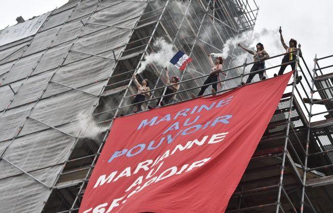 EN DIRECT. Présidentielle: Action des Femen à Hénin-Beaumont...