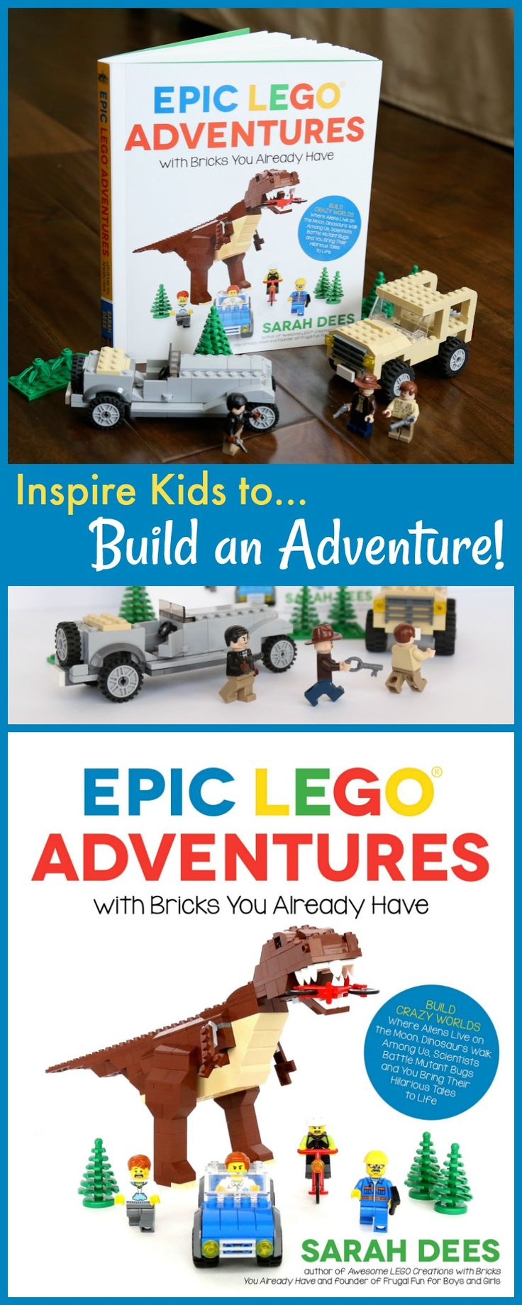 A look inside Epic LEGO Adventures with Bricks You Already Have - sample pages and more. This book challenges kids to build new projects with that big bucket of random bricks! Inspire creativity, building skills, and storytelling!