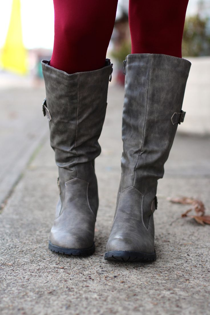 Low Rider Boots {Grey} | The Fair Lady Boutique
