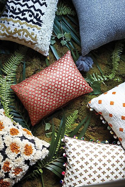 Embroidered Kosala Pillow - anthropologie.com