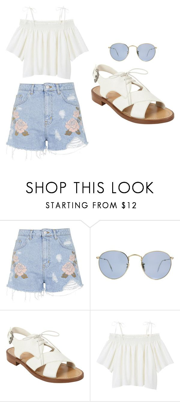 """Outfit Idea by Polyvore Remix"" by polyvore-remix ❤ liked on Polyvore featuring Topshop, Ray-Ban, Miu Miu and Monki"