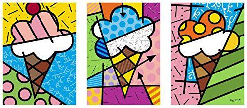 I-Love-Ice-Cream-by-Romero-Britto-Food-Kid-Children-Abstract-Contemporary-Print-Poster-914x508-0