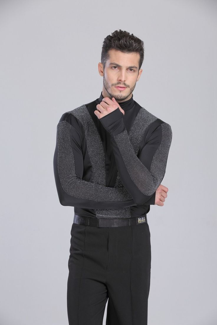 US $36.23 / piece 2015 New Arrival Men Dance Shirt Turtle Neck Long Sleeve Mens Latin Shirts Ballroom Dance Tops Clothing For Dance Wear